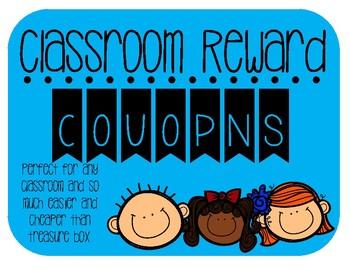 Classroom reward coupons.