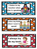 Editable Classroom Rules Cards and Poster