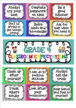 Classroom rules / expectations. Editable