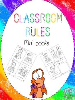 Classroom rules mini book