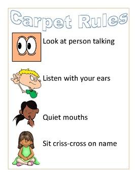 Classroom rules printable