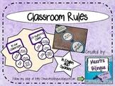 Classroom rules - purple circles