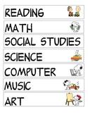 Classroom schedule Peanuts Gang