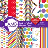 Classroom Digital Papers, Back to School Backgrounds, AMB-977