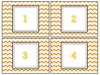 FREEBIE Orange Chevron Labels # 1-32