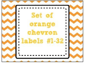 [FREEBIE] Orange Chevron Labels # 1-32