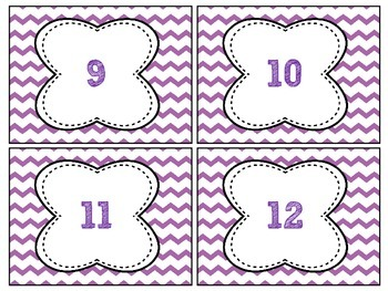 FREEBIE Purple Chevron Labels # 1-32