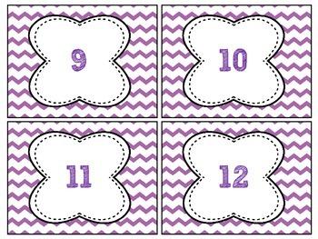 [FREEBIE] Purple Chevron Labels # 1-32