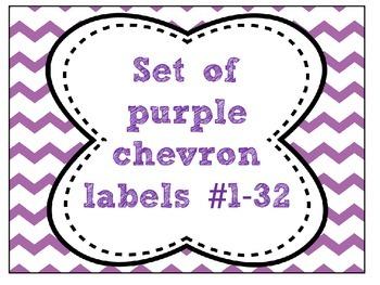 FREEBIE Purple Chevron Labels # 1-32