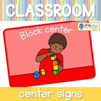 Classroom set-up center signs