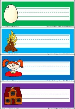 Classroom set-up name labels