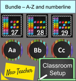 Classroom setup bundle - Numberline and Alphabet Chalkboar