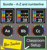 Classroom setup bundle - Numberline and Alphabet Chalkboar