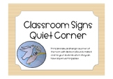 Classroom sign - quiet workspace