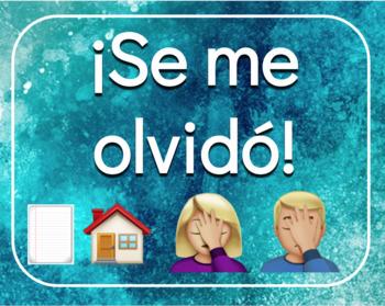 Classroom signs / posters in Spanish - Bathroom, locker, etc.