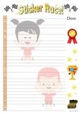 Classroom sticker board - 2 versions - A3