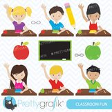 Classroom students clipart for scrapbooking, commercial use -CL550