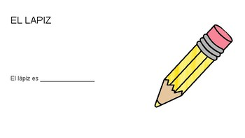 Classroom supplies in Spanish (objetos de la clase)