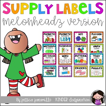 Classroom supply labels by Jessica