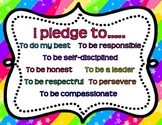 Classroom virtues posters! Cute and colorful!