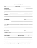 Classroom write up form