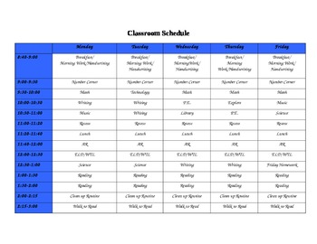 ClassroomSchedule
