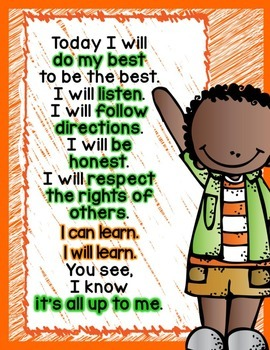 Classroom/School Pledge FREEBIE