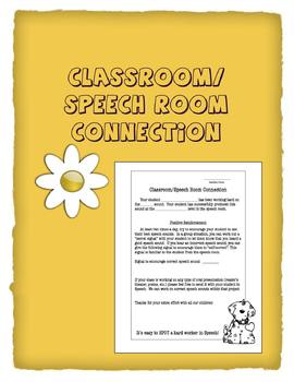 Classroom/Speech Room Connection