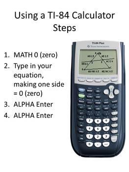 Classroom/Study Guide Using QR Codes - Equations