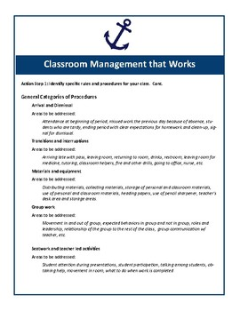 Classrooms That Work Reference Cards