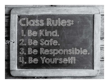 Classroom Character Poster - Class Rules