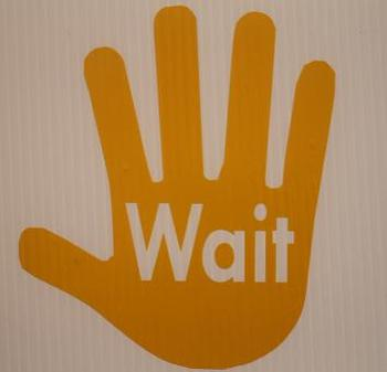 Classroon Visuals -Wait Hand (sold individually)