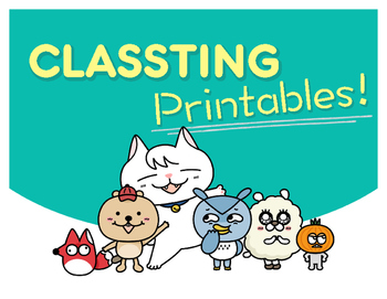 Classting Freebie Printables!