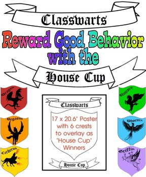 """""""Classwarts House Cup"""" Poster with 6 Crests to Change to S"""