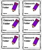Classwork Folder Label