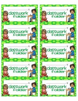 Classwork Folder Labels