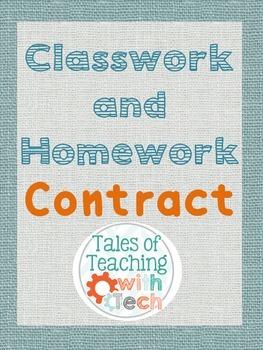 Classwork & Homework Contract