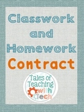 Classwork & Homework Contract
