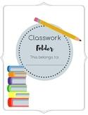 Classwork / Homework Folder Labels