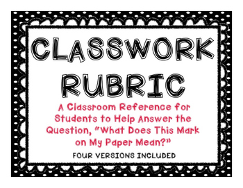 Classwork Rubric