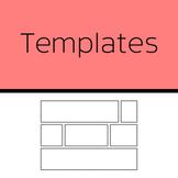 Templates: Comic panels (50 templates)