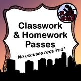 FREE -- No Excuses Required Homework and Classwork Passes