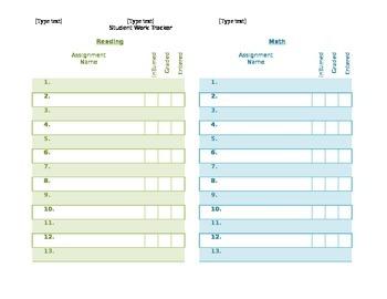 Classwork/Homework Assignment Tracker