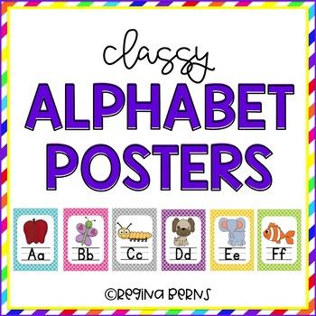 Classy Alphabet Posters