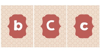 Classy Alphabet and Numbers 1-100
