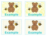 Classy Bears & Bees Small Name Tags