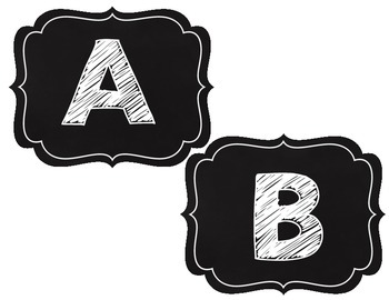 Classy Black and White Alphabet