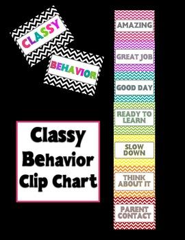 Classy Chevron Theme Behavior Clip Chart