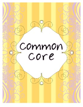Classy Chic Common Core-Binder Cover and Spines