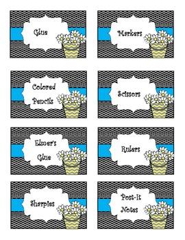 Classy Classroom Labels